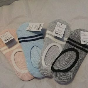Sweater slipper socks liners 4 pairs